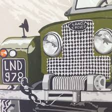 land rover old old land rover original art print series 1