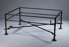 wrought iron coffee table with glass top wrought iron coffee table in brown bronze distressed gold
