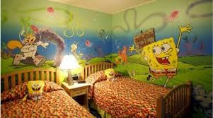 desain kamar winnie the pooh kamar tidur anak tema spongebob