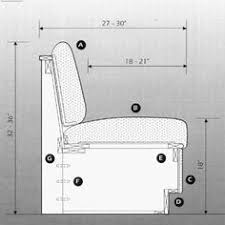 Bench Seat Height - seats should generally be between 16 and 20 inches in height and