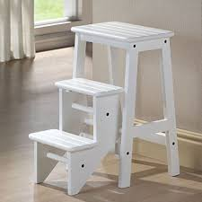 Wooden Stool For Bathroom Wooden Kitchen Step Stool Chair 13962