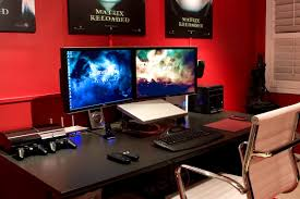 Home Decor Sale Uk by Wonderful Gaming Desk Ministic Yet Clean Layout Multiple Gamer