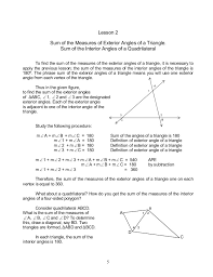 How Many Interior Angles Does A Pentagon Have Module 4 Geometry Of Shape And Size