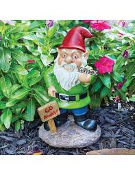 Garden Nome by Go Away Garden Gnome Bird Flipping Hilarious Novelty Garden