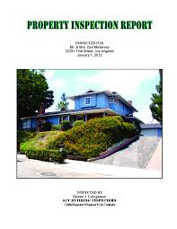 property inspection report template sample of reports