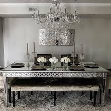 Beautiful Dining Room Sets Amazing Mirrored Dining Table At Room Set Cintascorner
