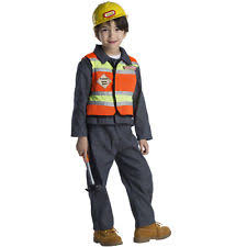 construction worker costume construction worker child costume size t4 toddler ebay