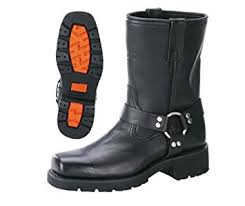 short black motorcycle boots amazon com xelement 1436 mens black short harness motorcycle boots