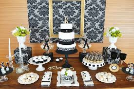 70th birthday party ideas gold black damask 70th birthday party birthday party ideas themes