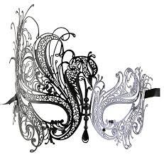 white masquerade masks for women luxury mask women s swan metal filigree laser cut