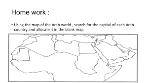 Blank Maps Middle East by Who Speaks Arabic Quick Facts Ppt Download
