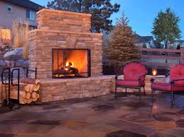 outdoor brick gas fireplace the great combination for the