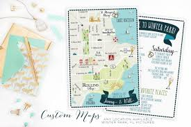 Florida Towns Map Custom Wedding Map Any Location Available Winter Park Florida