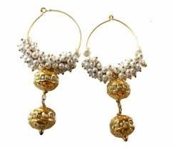 punjabi jhumka earrings jhumkas earrings punjabi look jhumki online shopping craftsvilla