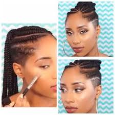 braids with bald hair at the bavk shaved sides and cornrows hair fusion pinterest shaved sides