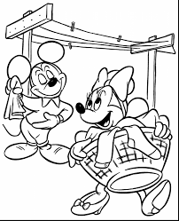 brilliant mickey and minnie mouse coloring pages with mickey mouse