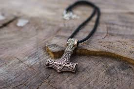 thor s hammer mjolnir pendant with mammen ornaments