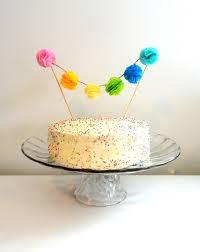 cake topper banner cake topper mini tissue paper pom pom cake topper garland rainbow
