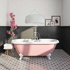 victoria rose coloured bath with tap and waste eyebrows bath