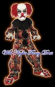Boys Scary Halloween Costumes Halloween Fancy Dress Boys Scary Clown Med Age 7 9