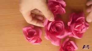 Make Flower With Paper - super easy way to make a u0027 real rose u0027 from paper tutorial youtube