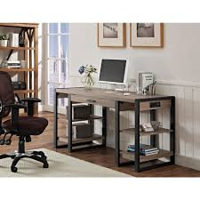 Computer Desk With Shelves by Walker Edison Furniture Company Urban Blend Ash Grey Desk With