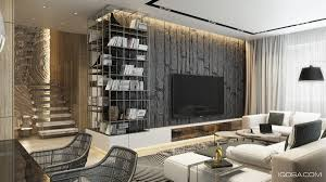 attractive wall designs for living room with design ideas lcd