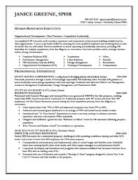 Director Of Human Resources Resume Executive Resume Template Download Create Edit Fill And Print