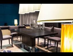 Stainless Steel Dining Room Tables by Nella Vetrina Costantini Park Lane Modern Stainless Steel Dining Table