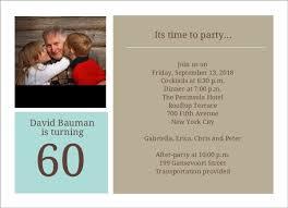 specially made 60th birthday invitations templates u2014 all