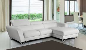 sparta mini italian leather sectional sofa in white free