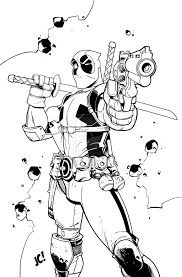 deadpool coloring pages middle finger coloringstar