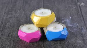 diy clay candle holder crafty youtube