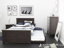 Single Bed Frame With Trundle Solid Timber Bedroom Furniture Melbourne Www Redglobalmx Org