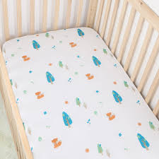 tropical flowers cotton muslin baby fitted crib sheet changyi