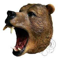 latex full head animals realistic bear high quality fancy dress up