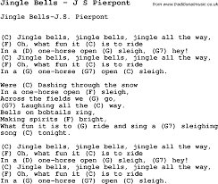 song jingle bells by j s pierpont with lyrics for vocal
