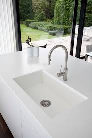 Solid Surface Sinks Kitchen by Contemporary Kitchen Solid Surface Apart Keukens Hi Macs