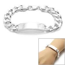 engravable id bracelet sterling silver 13mm engravable cuban link id bracelet wholesale