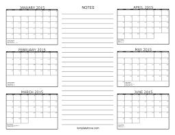 printable 2017 calendar two months per page 6 month calendar 2015