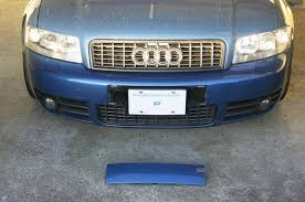 audi q7 front license plate bracket screwless magnetised license plate audiworld forums