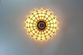 Glass Flush Mount Ceiling Light Stained Glass Flush Mount Ceiling Light Ceiling Designs
