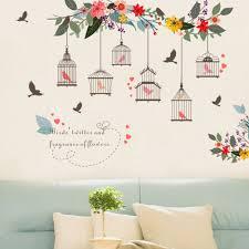 bird wallpaper home decor amazon com ussore wall sticker selling flower bird wall decal