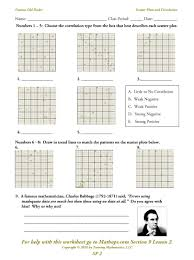 brilliant ideas of scatter plot worksheets with job summary