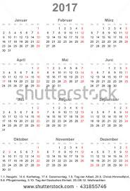 simple calendar 2017 one year glance stock vector 431855746