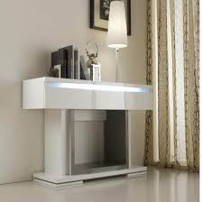 modern console table with drawers renoir console in grey and taupe with 1 drawer with lights looks