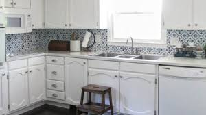 white oak kitchen cabinets painting oak cabinets white an amazing transformation