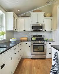 small white l kitchen home design ideas