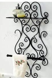Wrought Iron Bathroom Shelves Iron Bathroom Rack Paper Towel Holder Wrought Iron Towel Rack