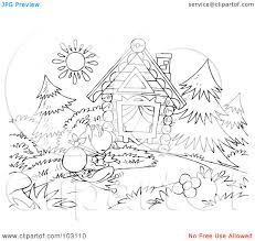 log cabin pictures color free coloring pages art coloring